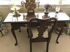 Beautiful made wood desk with chair.