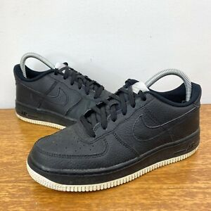 Nike Air Force 1 One Trainers Shoes Black with White Sole Size UK 5 - Great Cond