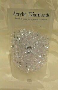 4 Packs Clear Decorative Acrylic Diamonds, Vase Table Decoration Wedding Crystal