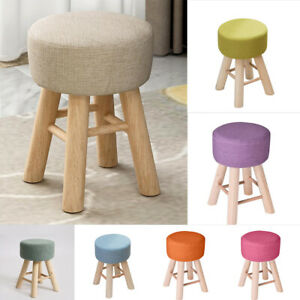 1pc Round chair cover Footstools Cover round Cushion cover Stool cover Linen
