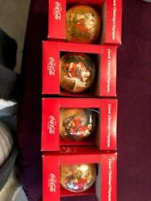 FOUR COCA COLA ORNAMENTS/ BALLS IN ORIG. BOX