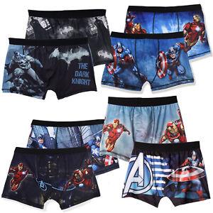 Avengers Batman DC Comic Men's Character Boxers Shorts Hipsters 2-PACK Set Gift