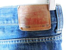 Levis 533 Tapered Loose  W32 L32 Dark Blue Jeans Red Tag
