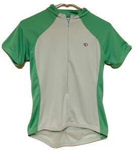 Pearl Izumi Green Cycling Bike JERSEY Size S 3/4 zip short sleeve Small pockets