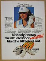 1982 Adidas Grand Prix Boston Lady Smith shoes Athlete's Foot vintage print Ad