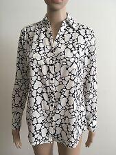 Talbots Nantucket XS NWT Long Sleeve Button Down Shirt Hearts Navy Polka Dot $89