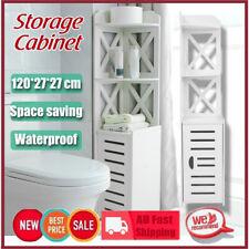 Wooden 120cm Bathroom Cabinet Tallboy Furniture Toilet Storage Laundry Cupboard