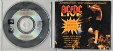AC/DC LIVE LTD EDITION CD 5 TITRES INEDITS EN CONCERT ONLY AVAILABLE IN FRANCE