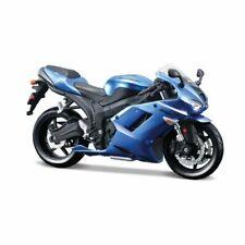NIB Maisto 1:12 KAWASAKI NINJA ZX-6R blue Motorcycle AssemblyLine Model ToyKit
