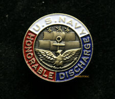 HONORABLE DISCHARGE US NAVY HAT PIN USS SAILOR OFFICER CHIEF VICTOR C VETURIS JR