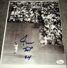 "Willie Mays Signed Autographed 8x10 ""The Catch"" Photograph Inscribed ""24"" JSA"