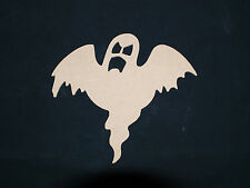 MDF Wooden Halloween Ghost Plaque Embellishments unpainted blank craft shape