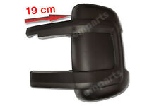 FIAT DUCATO CITROEN RELAY Door Mirror Casing Cover BLACK MEDIUM ARM Left N/S 06>