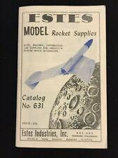 Vintage Estes 1962 No. 631 Model Rocket Rocketry Catalog