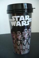 Star Wars Force Awakens Black Plastic 16 fl oz. Coffee Thurmos Cup w Lid Disney