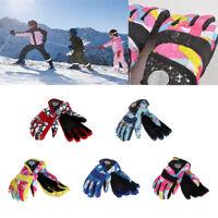 Winter Boys Girls Kids Windproof Outdoor Ski Snowboard Thick Warm Finger Gloves