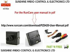 RunCam PZ0420H FPV Camera NTSC SONY CCD Colour 600TVL 5D-OSD Cable Quads Drones