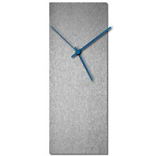 Mid-Century Modern Clock Minimalist Wall Decor Contemporary Silver Accent