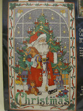 Bucilla Christmas Advent Calendar Cross Stitch Kit Charms Santa 83698