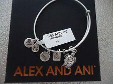Alex and Ani SEA TURTLE Rafaelian Silver Finish Bangle New W/Tag Card & Box