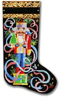 Needlepoint Handpainted Christmas Stocking CBK Nutcracker 21""