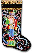 NEEDLEPOINT Handpainted Canvas Christmas STOCKING Kooler Designs Nutcracker 13M