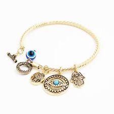Charm Turkish Evil Eye Bead Bracelet Jewelry Fatima Hand Lucky Bracelet Fashion