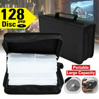 Portable 128 Disc CD DVD Wallet Holder Bag Case Album Organizer CD Media Storage