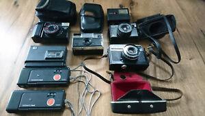 Diverse Analogkameras Retro Kellerfund mit Taschen Canon Agfa Kodak