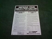 1978 1979 AUSTIN MORRIS MINI ALLEGRO MARINA IMPROVE YOUR MPG LEAFLET UK BROCHURE