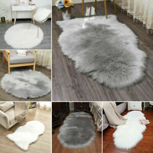Fluffy  Faux Fur Sheepskin Rug Soft Shaggy Area Rugs Room Mats Thick Wool