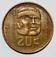 1983 20 CENTAVOS coin OLMEC CULTURE veinte snake MEXICO world