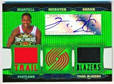 2006-07 Topps Triple Threads Martell Webster Emerald Jersey Auto #TTRA88 (14/18)