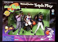 Michael Jordan Space Jam Movie Triple Play Box Set New 1996 Amricons