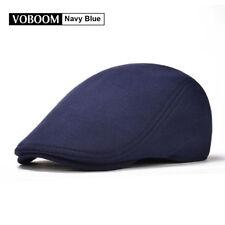 100% Cotton Navy Men's Ivy Hat Newsboy Gatsby Cap Golf Flat Cap Cabbie Beret