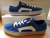Etnies Mens Size 10 RSS blue Suede skate skater ref7P87 Trainers shoes