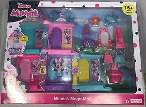 Disney Junior Minnie Mouse Minnie's Mega Mall Fisher Price 5 Boutiques NIB