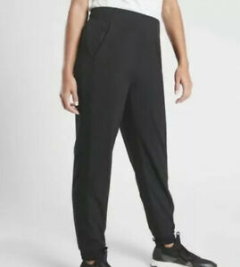 ATHLETA Brooklyn Jogger Lightweight Travel Pant Black  Women Size 2P NWT