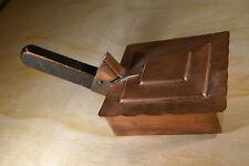 Antique Silent Butler Hand Made Hammered Copper Wood Handle