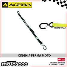 CINGHIE FISSAGGIO FERMA MOTO MOTOCICLETTA GANCIO DI SICUREZZA ACERBIS - GIALLO