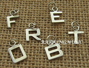 LETTER/INITIAL 925 STERLING SILVER SMALL FLAT  {CHOOSE} GIFT BOXED