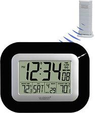 WS-8115U-B La Crosse Technology Atomic Digital Wall Clock IN/OUT Temp TX38U-IT-N