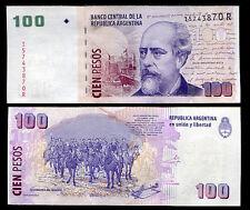 ARGENTINA 100 PESOS 2012 UNC P 357 R SERIAL - JULIO ARGENTINO ROCA