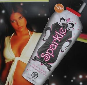NEW POWER TAN SPARKLE DARK TANNING GELEE SUNBED LOTION + FREE GIFTS SAVE £20.00+
