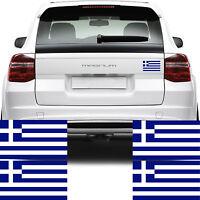 4x Greece Flag Car Van Stickers (Greek Γαλανόλευκη Κυανόλευκη Decal Graphics)