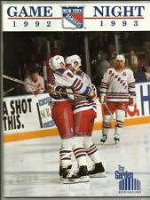 March 17, 1993 New York Rangers vs Edmonton Oilers Hockey Program