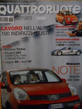 Quattroruote 607 2006 Jaguar XK Audi Q7 Peugeot 207 Dahiatsu Terios   [Q48]
