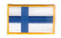 FINLAND FLAG PATCH BADGE IRON ON NEW EMBROIDERED