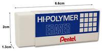 2 x Pentel ZEH/10 Hi-Polymer Eraser Rubber - Extra Large Erasers