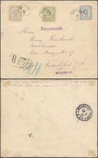Montenegro 1894 - Registered Stationery to Frankfurt Germany DX127